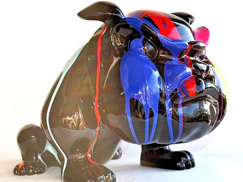 Bull-Dog - Chien en Résine - XXème