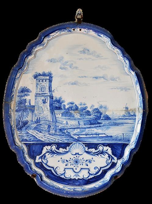 Delft earthenware plaque - 18th century