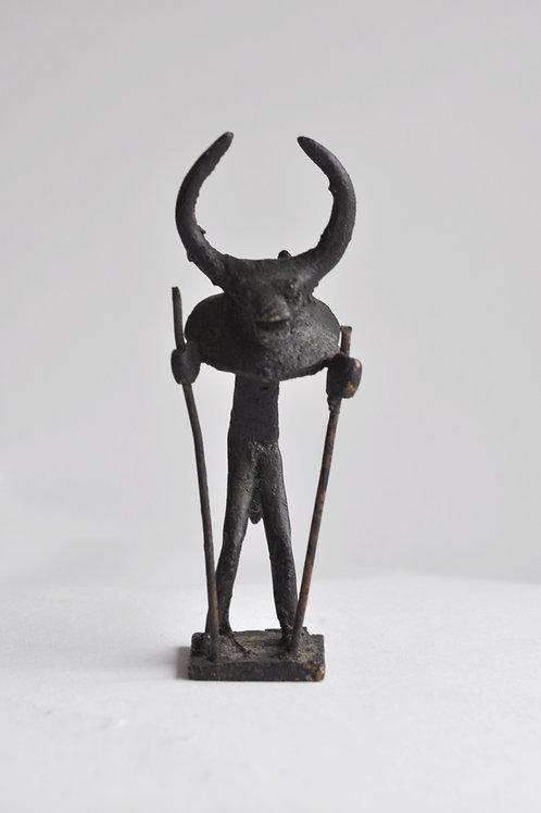 Sculpture - Statuette bronze - Fétiche - XXème