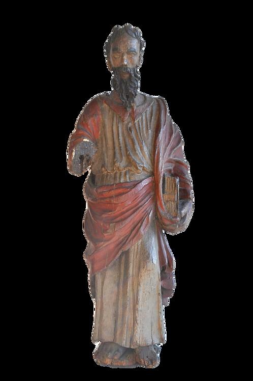 Statue de Saint - Bois, Polychrome - Début du XVIe siècle