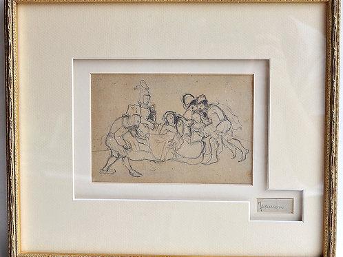 "Philippe Auguste JEANRON (1810-1877) - ""Troubadours"" - 19th"