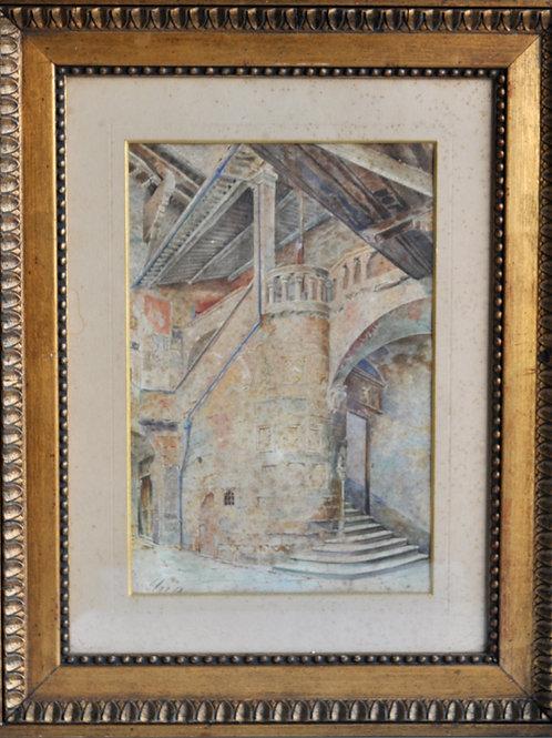 Tableau - Aquarelle signée - XIXème