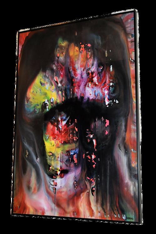 MIODRAG - peinture - Huile sur papier - XXème