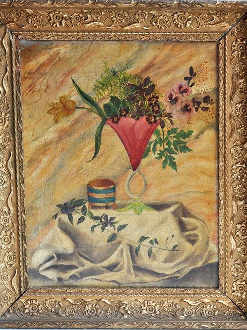 Tableau - Huile sur toile - Nature morte - XIXème