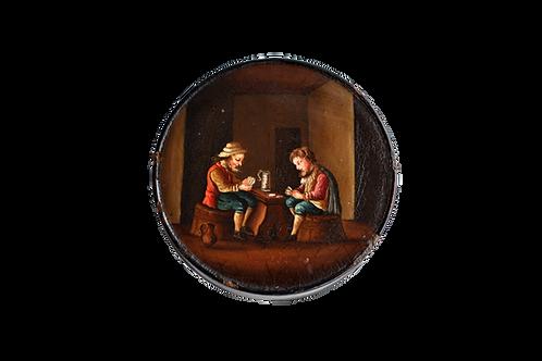 Boite ronde peinte - XIXème siècle
