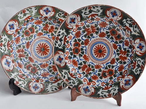 Pair Of Delft Earthenware Dishes - Early 18th