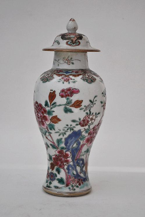 Chine - Vase Balustre - Famille Rose - XVIIIème