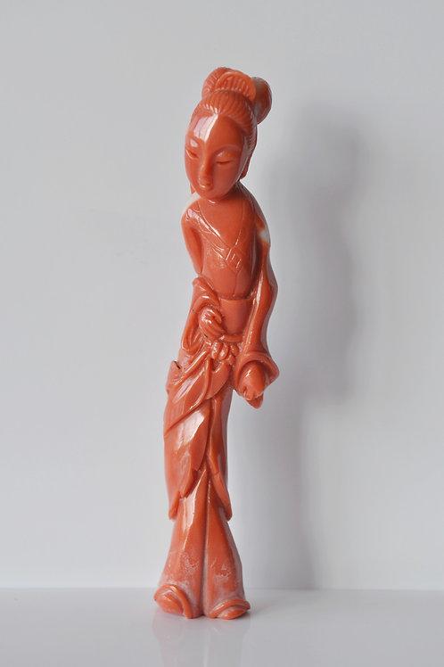 Chine - Sculpture En Corail- Rouge - Circa 1900