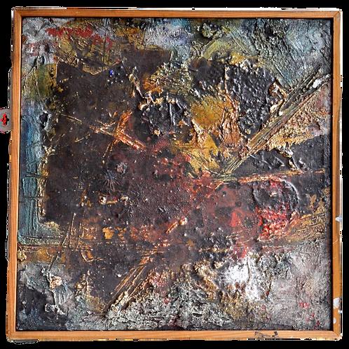 Novak Maryan - Huile sur toile - composition 1963