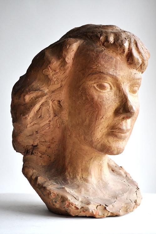 Legros - Buste - Sculpture - Terre cuite - signée - XXème