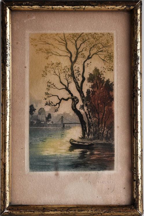 Tableau - Petite peinture signée - XIXème