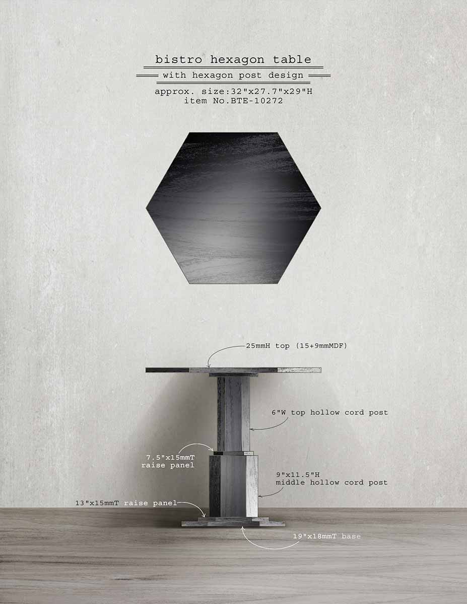 Bistro Hexagon Table