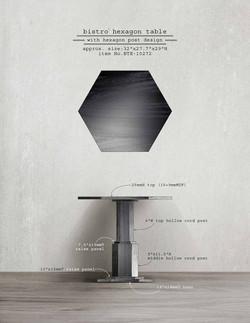 Bistro Hexagon Table