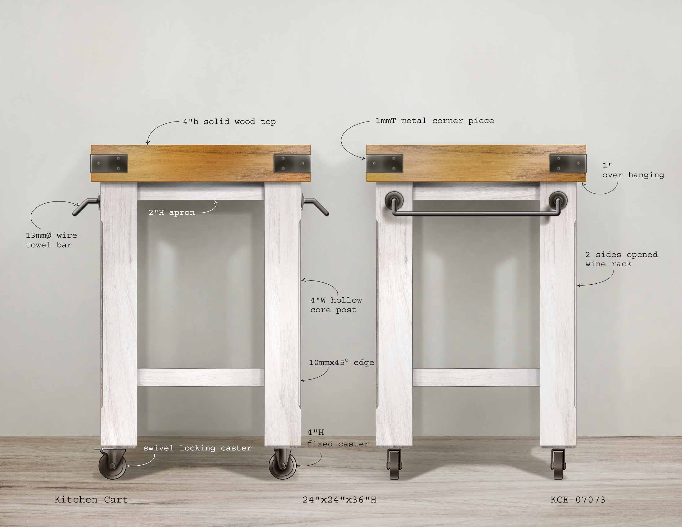 Butcher Kitchen Cart