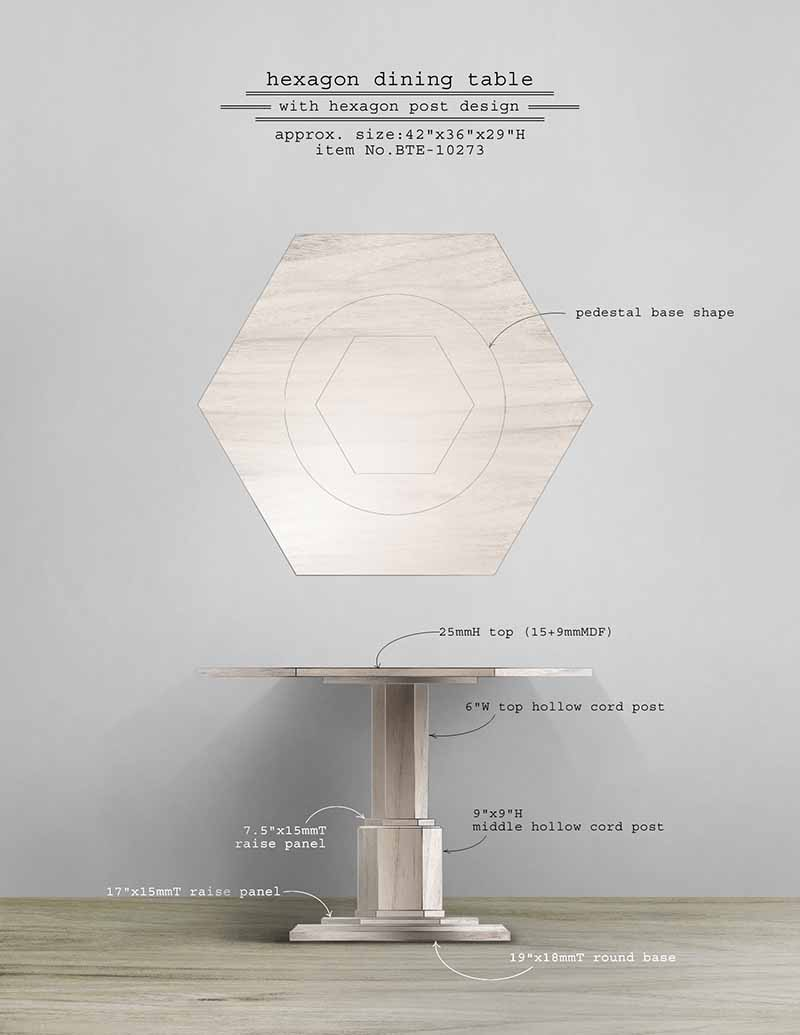 Hexagon Dining Table