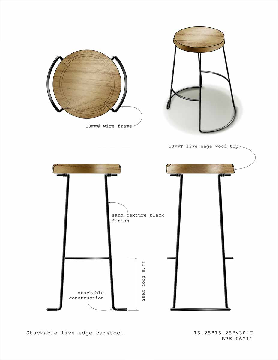 stackable barstool