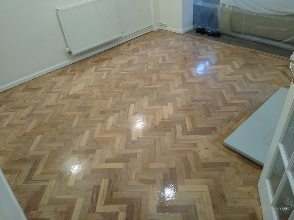 Letchworth. Parquet after with new threshold install