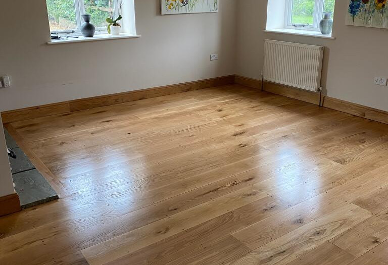 Buntingford Hertfordshire. Engineered Oak. sanded and oiled.
