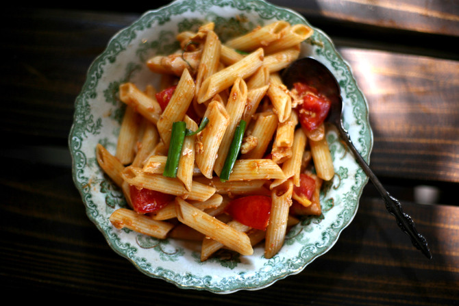 Penne Pasta w/ Garden Tomatoes