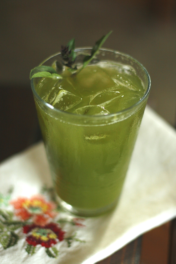 Thai Basil Lime Agua Fresca