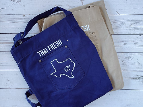 Embroidered Blue Thai Fresh Apron