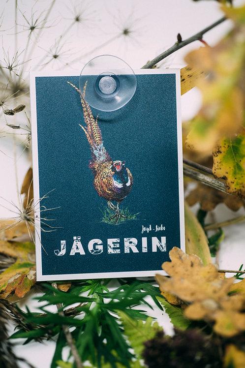 Jagd-Liebe Fasan-Autoschild aus Makrolon