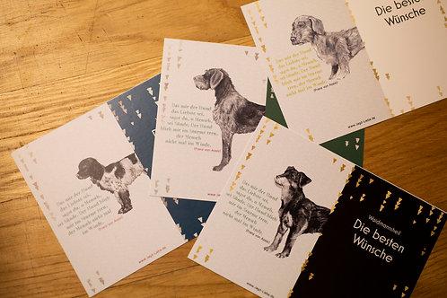 Jagd-Liebe Postkarten Jagdhund