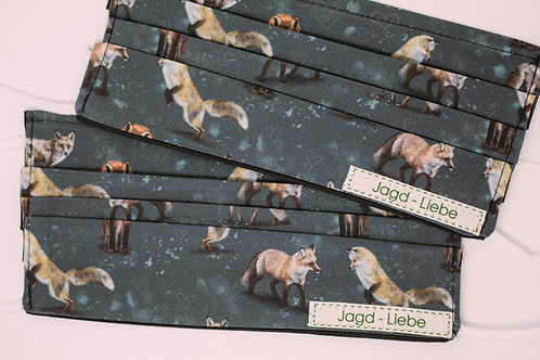 Jagd-Liebe Stoffmaske Waldtiere