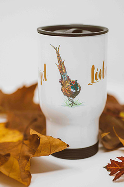 Jagd-Liebe Coffee-to-go-Becher Fasan