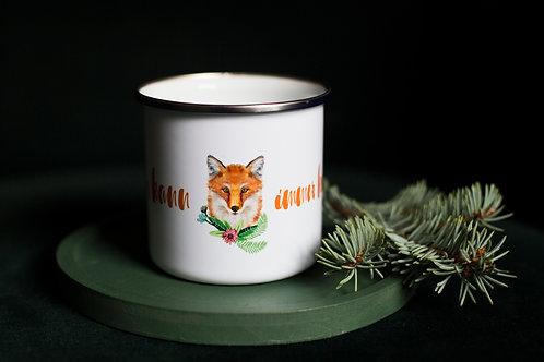 Jagd-Liebe Fuchs Emaille-Tasse