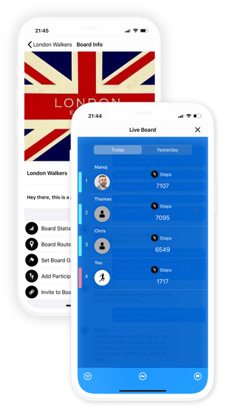 WOBL: Groups, chats and live leader-boards