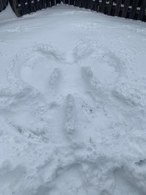 Brianna's snow angel