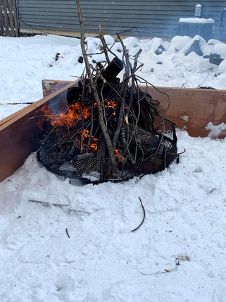 Bonfire in January
