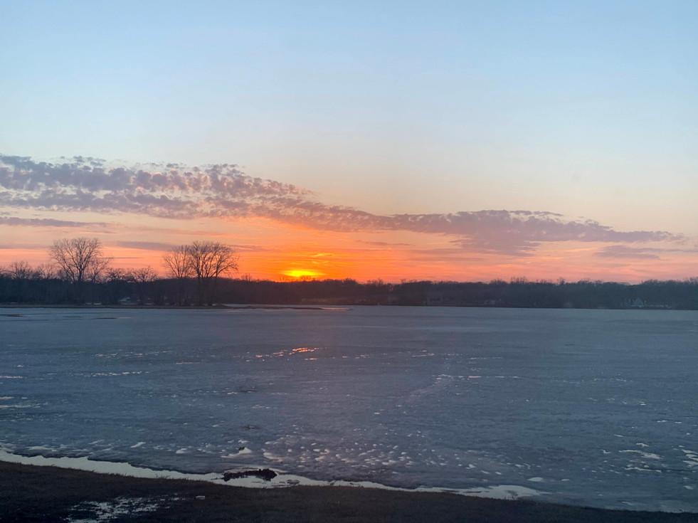 Sunset on Lily Lake