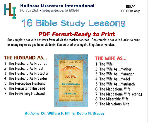 Biblical Advice for Husband & Wife (CD ROM)