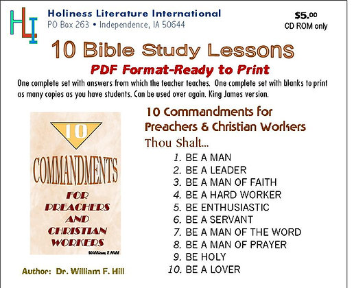 10 Commandments for Workers (CD ROM)