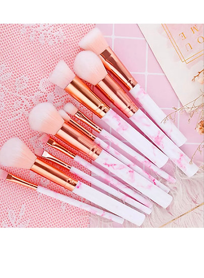 Pink Marble 10 Piece Set