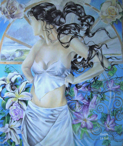 DANSEUSE-Huile-65 x50 cm-Gaëlle Le Gal-