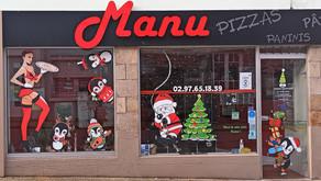 Découvrez l'histoire d' une jolie peinture de Noël sur vitrine ...