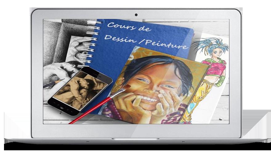 Formation, Cours en ligne  et Ateliers en Présentiel, de  dessin et peinture avec Gaëlle Le Gal.