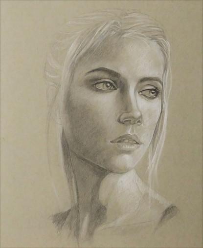 Portrait-crayon-22,9 x 30,5cm