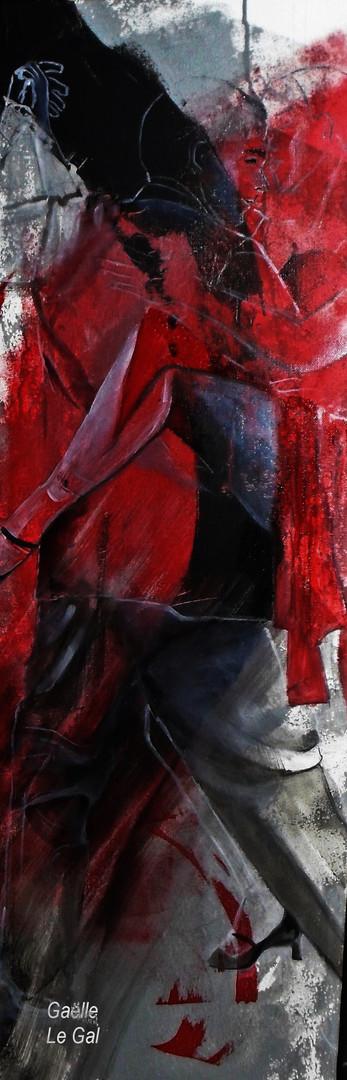 TANGOFUSION-Huile- 45 x80 cm