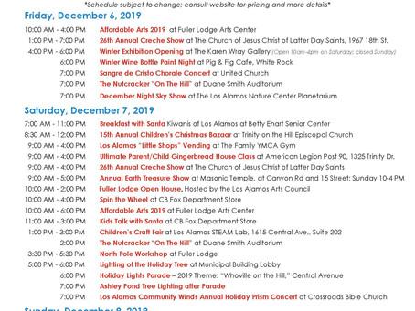 WinterFest Schedule 2019