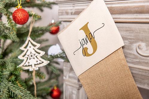 Weihnachtsstrumpf Initial & Name