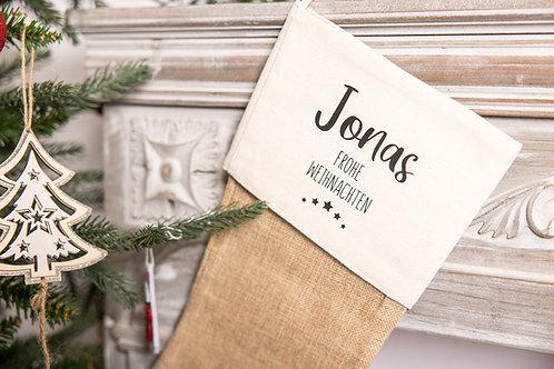 Weihnachtsstrumpf Name & Botschaft