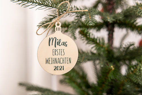 Holzanhänger Erstes Weihnachten
