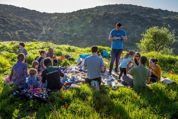 Lab picnic at 'Givat Haturmusim'
