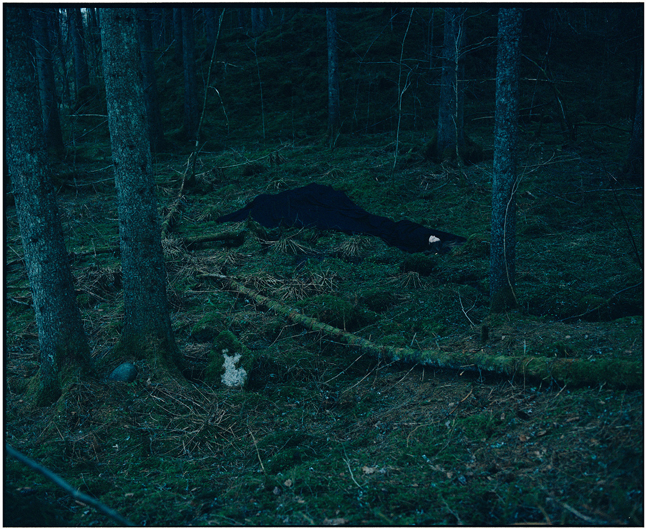 Body in Black in the Forest