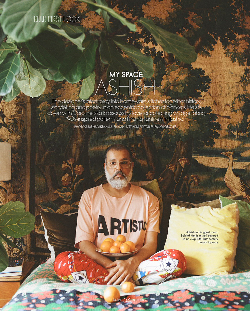 Fashion designer Ashish, for ELLE India