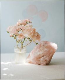 Rose Quartz and Roses